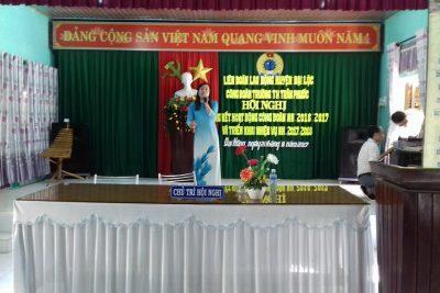 HỘI NGHỊ CÔNG ĐOÀN CƠ SỞ NĂM HỌC 2017-2018
